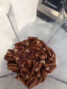 Pecans in vitamix